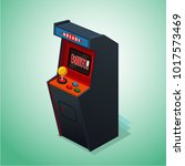retro arcade machine. isolated...