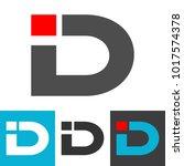 initial letter id logo vector.... | Shutterstock .eps vector #1017574378