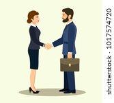handshake of business partners.... | Shutterstock .eps vector #1017574720