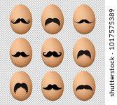 eggs with mustache big set... | Shutterstock .eps vector #1017575389