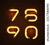 vector of abstract font and... | Shutterstock .eps vector #1017580090