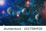 planets  stars and galaxies in... | Shutterstock . vector #1017584920