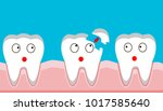 tooth fracture  filling  teeth  ...   Shutterstock .eps vector #1017585640
