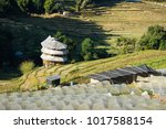 hill tribe villages and farm at ... | Shutterstock . vector #1017588154