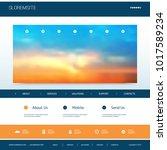website design template for... | Shutterstock .eps vector #1017589234