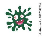 cartoon green blot. eyes and... | Shutterstock .eps vector #1017589966