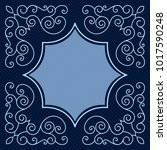 dark blue card with copy space... | Shutterstock .eps vector #1017590248