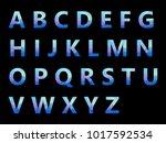 vector alphabet set geometric... | Shutterstock .eps vector #1017592534