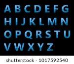 vector alphabet set geometric... | Shutterstock .eps vector #1017592540
