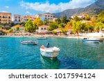 cephalonia island greece assos... | Shutterstock . vector #1017594124