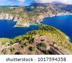 cephalonia island assos village ... | Shutterstock . vector #1017594358