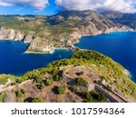 cephalonia island assos village ... | Shutterstock . vector #1017594364