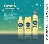 3d realistic cosmetic bottle...   Shutterstock .eps vector #1017594646