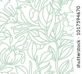 vector floral seamless pattern... | Shutterstock .eps vector #1017594670