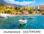 cephalonia island greece assos... | Shutterstock . vector #1017595390