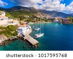 cephalonia assos village in... | Shutterstock . vector #1017595768
