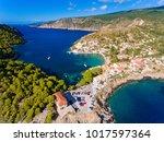 kefalonia assos village aerial... | Shutterstock . vector #1017597364