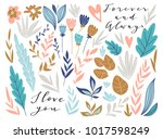 flower graphic design for card... | Shutterstock .eps vector #1017598249