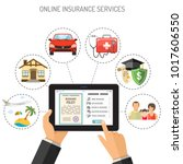 concepts online insurance... | Shutterstock .eps vector #1017606550