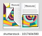 abstract vector layout... | Shutterstock .eps vector #1017606580