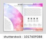 abstract vector layout... | Shutterstock .eps vector #1017609388