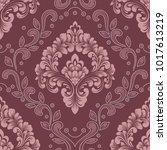 vector damask seamless pattern... | Shutterstock .eps vector #1017613219