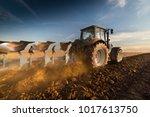 Tractor Plowing Fields ...