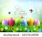 vector illustration. easter... | Shutterstock .eps vector #1017614050