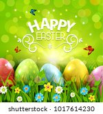 vector illustration. easter... | Shutterstock .eps vector #1017614230