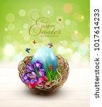 vector illustration. easter... | Shutterstock .eps vector #1017614233