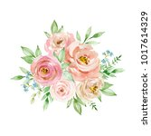 painted watercolor composition... | Shutterstock . vector #1017614329