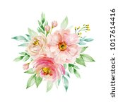 painted watercolor composition... | Shutterstock . vector #1017614416