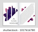 abstract vector layout... | Shutterstock .eps vector #1017616780