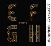 vector graphic alphabet in a... | Shutterstock .eps vector #1017616906