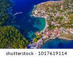 drone image of assos or asos... | Shutterstock . vector #1017619114