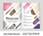 abstract vector layout... | Shutterstock .eps vector #1017619549