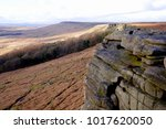 stanage edge  derbyshire  uk.... | Shutterstock . vector #1017620050