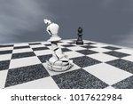 checkmate a broken king on a... | Shutterstock . vector #1017622984