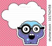 cartoon monster with message... | Shutterstock .eps vector #101762458