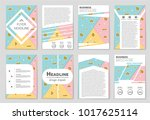 abstract vector layout... | Shutterstock .eps vector #1017625114