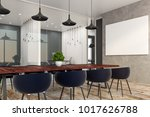 contemporary boardroom interior ... | Shutterstock . vector #1017626788