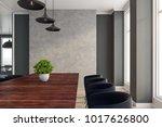 modern boardroom interior with... | Shutterstock . vector #1017626800