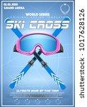 poster template of winter games ... | Shutterstock .eps vector #1017628126