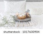 white modern bedroom with... | Shutterstock . vector #1017630904