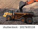 open pit manganese mining and... | Shutterstock . vector #1017633118