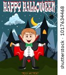 vampire for happy halloween...   Shutterstock .eps vector #1017634468