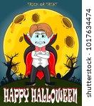 vampire for happy halloween...   Shutterstock .eps vector #1017634474
