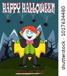 vampire for happy halloween...   Shutterstock .eps vector #1017634480