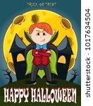 vampire for happy halloween...   Shutterstock .eps vector #1017634504