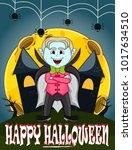 vampire for happy halloween...   Shutterstock .eps vector #1017634510